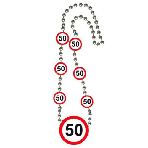 Traffic Sign 50th Party Necklace Birthday Jewellery Lanyard Gift favor Favour
